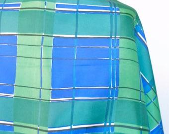 Irish Plaid - a vintage 1970's Vera Neumann Optical Art scarf