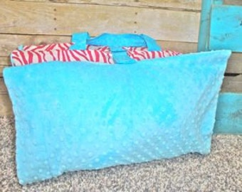 Hot Pink and Teal Zebra Nap Mat Cover and FREE Blanket  LAST ONE