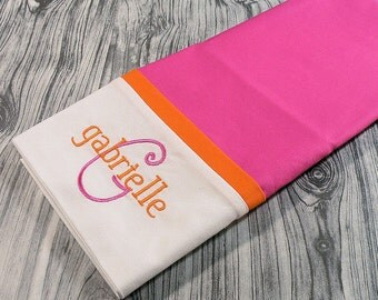 Hot Pink and Orange Personalized Pillowcase, Hot Pink and Orange Pillowcase