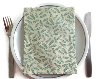 Dinner Napkins  Set of 4 Cloth Napkins Eco Friendly 100% Cotton Dinner Napkins