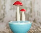 Mushroom Salt Cellar, Sky Blue