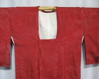 Vintage Japanese Michiyuki Jacket Kimono Silk Women's - Reader's Envy