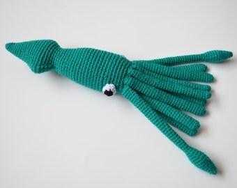 Little Squid Crochet Amigurumi Pattern