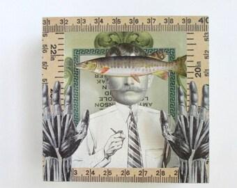 fish face - acrylic art block