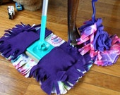 Set of 2 Reusable Duster AND Sweeper Cover for Swiffer type Cleaners Your Color Choice