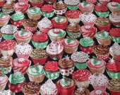Christmas Cupcakes Fabric