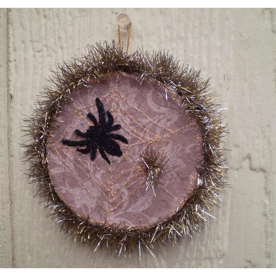Christmas ornament holiday decoration tinsel spider home decor Halloween Artist Bazaar