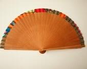 Handpainted Silk hand fan-Wedding hand fan-Silk hand fan-Bridesmaids-Spanish hand fan-Giveaways