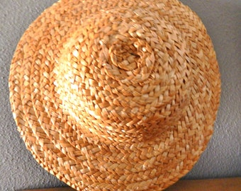 "Darice - 2814 - Straw Hat Wall Hanging - round top - 9"" - natural - 1 pc"