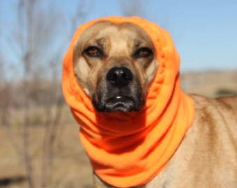 Polar Fleece Snood for Medium Dog - HUNTER ORANGE - Snood for Dog