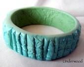 Polymer Clay Aqua Bangle
