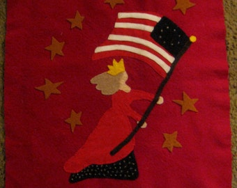 DESTASH Embroidery on Felt and Flag Piece Free Shipping DESTASH