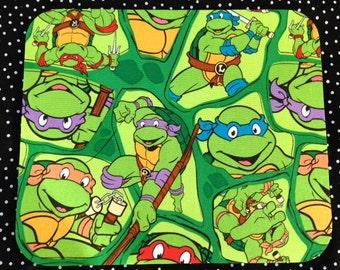 Computer Fabric Mousepad Made From Teenage Mutant Ninja Turtles Fabric