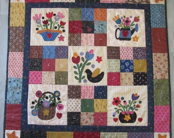 Folk Art Flowers pdf pattern