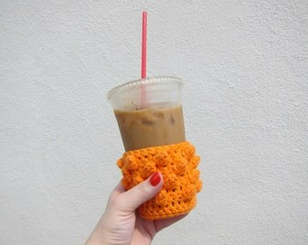 Crochet Cup Cozy (orange)