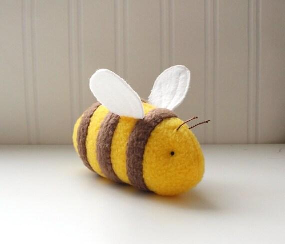 Yellow Bumble Bee Stuffed Animal Handmade Plush Toy