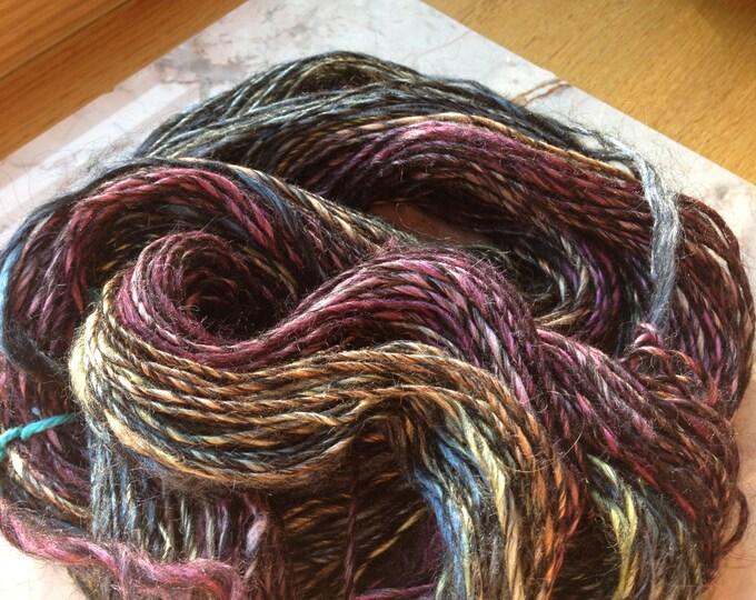 Soft Handspun Yarn in Alpaca and Tussah Silk