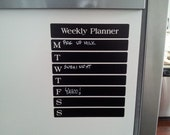 Chalkboard Vinyl Weekly Planner for Office, Kitchen, Bedroom, Student  Organize your life with style