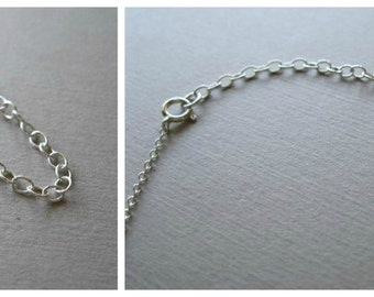 Sterling Silver Extender Chain - Choose your Length - Add on to Necklace or Bracelet Extend