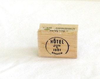 rubber stamp, stamping, Hotel, June 5, 1901, F, destash