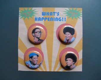 What's Happening classic TV refrigerator magnet set