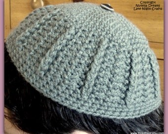 Instant Etsy Download PATTERN - Andy Unisex Kippah - No Clips - Fast and Easy - Awesome Texture - Lightweight Comfort