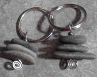 Tiny Cairn Key Ring