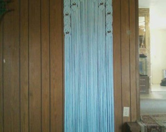 Beaded Arch Decor Curtain For A Closet Door Or Pantry Door Made in Macrame