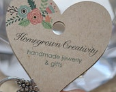Custom Flower Heart Fold Over Jewelry Display Necklace Cards Tags Jewelry Display