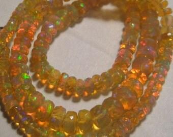 Honey Golden FACETED Ethiopian Opal  neckalce.................    17  inch .........      e612
