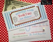 Personalized Tooth Fairy Money Envelopes, Money Gift, Children, Kids, sold per envelope