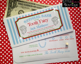 Personalized Tooth Fairy Money Envelopes, Money Gift, Children, Kids, sold per envelope