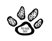 Custom Dog Paw Notecards, Personalized Pet Cards
