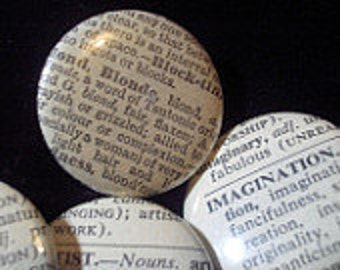 Dictionary Buttons!  (1 inch, pin-back)