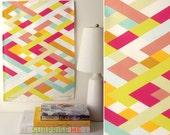 SALE! Latticework Tea Towel - linen cotton everyday art
