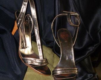 Vintage Shoes Italian-Leather Sandal Styled