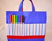 Coloring Tote Crayon Bag Crayon Tote READY To SHIP ARTOTE in Play Ball