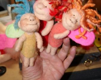 Needle Felting Finger Puppet Fairies Video Tutorial & Kit on DVD