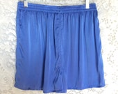 Blue Lavender Hand Dyed Silk Boxers