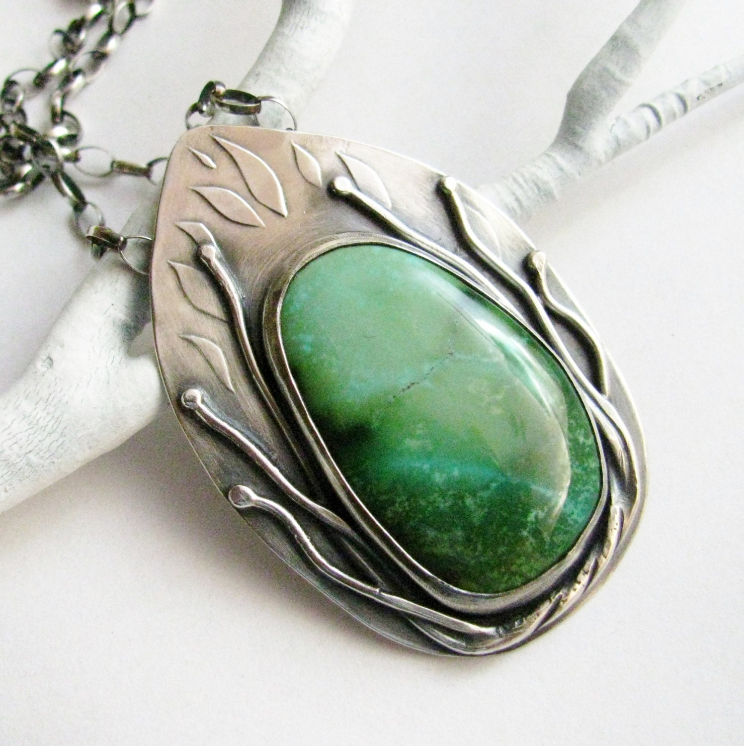 blue green turquoise necklace jewelry artisan sterling