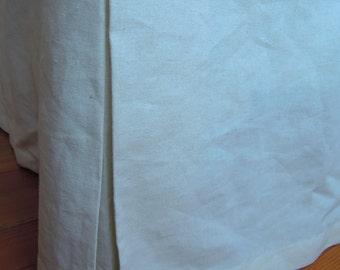 Ready Made Queen Organic Bedskirt,  Hemp/Cotton Classic Bedding, Tailored, Natural