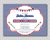 Baseball Baby Shower or Birthday Invitation - Printable 5x7 Invite
