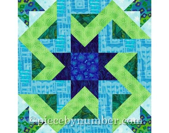 Octagonia quilt block pattern, paper pieced quilt patterns, instant download PDF, celtic knot patterns, hexagon quilt patterns