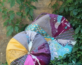 PDF pattern Instant Download Indelible fabrics Patchwork - floor pillow POUF by Katarina Roccella