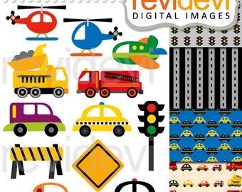 Transportation clip art / digital images / City Traffic Jam Clip arts 07512