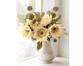 Sunflower Decor,  Sunflower Art Print, Still Life Decor,  Yellow Flower Photography, Vintage Inspired Photo