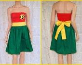 Robin Strapless Summer Sun Dress Cosplay Costume Adult All Sizes MTCoffinz