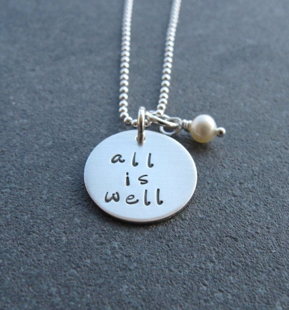 all is well inspirational jewelry faith jewelry religious
