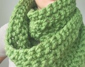 Infinity scarf cowl in Basil Green
