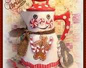 Apple Tree Cottage Original Design E Pattern  - Peppermint Snowman Coffee Pot